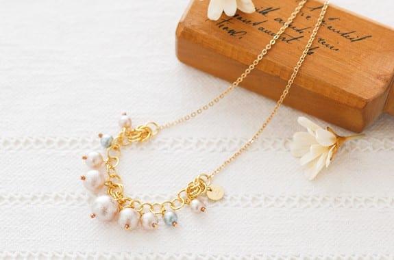 華やかネックレスの作成例