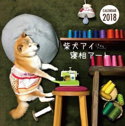 柴犬アイちゃんの寝相アートカレンダー2018